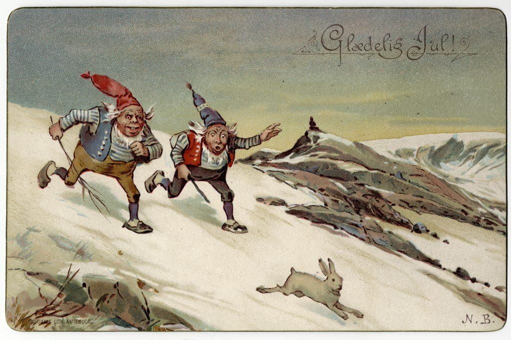 Julekort, PA-1932, Eydes samling,boks VII,  Kuben.