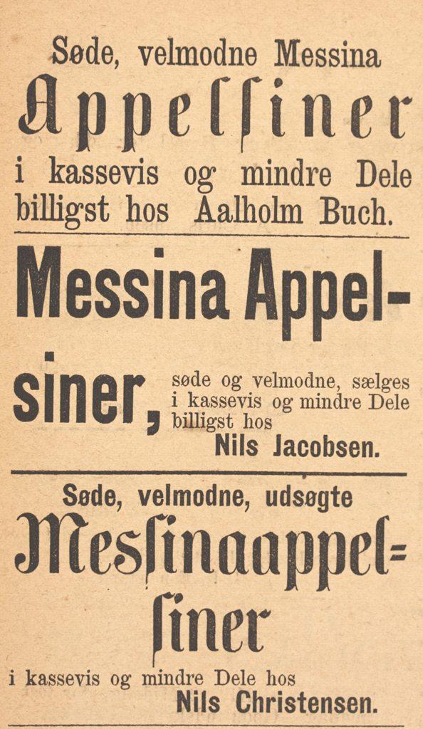 Annonse i VT fra 1875 -  forminsket