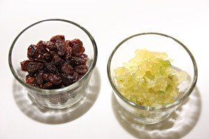 Sukat og rosiner brukes i hvetekringlen